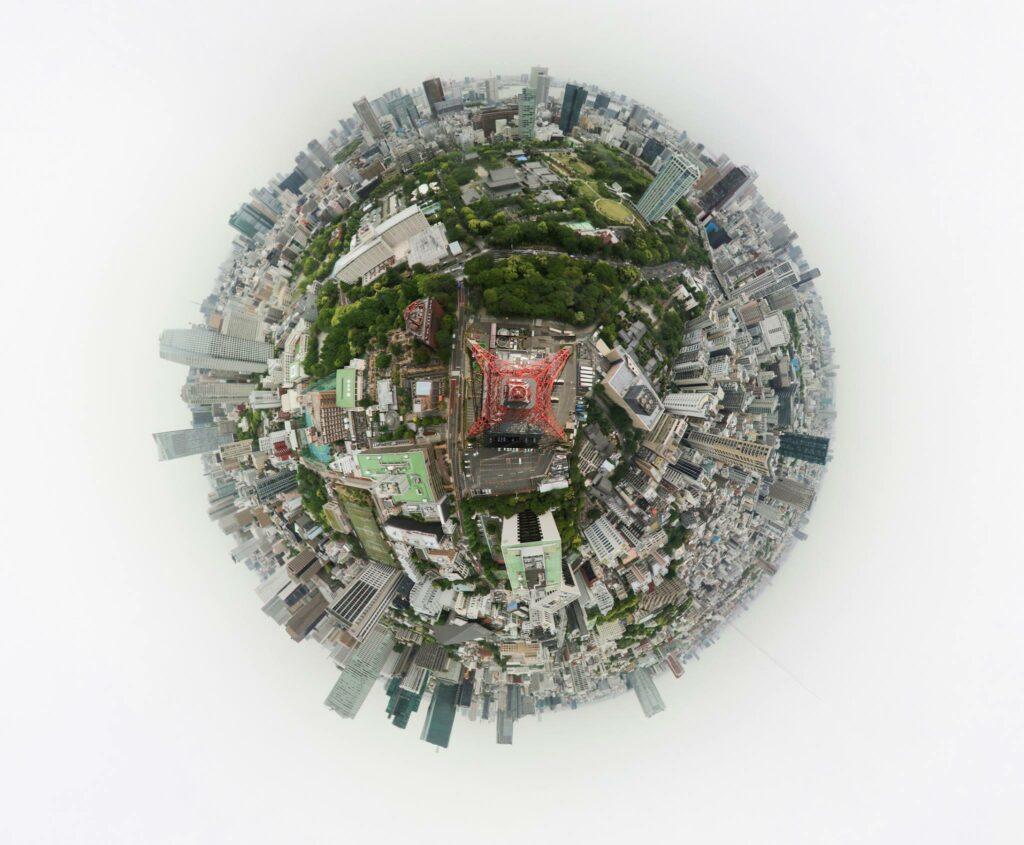 Tokyo tower 360 photo
